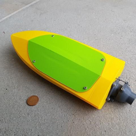Download 3D printer designs RC Mini Jet Boat, jtronics