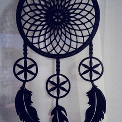 5c0ecd1c-a915-4479-95b2-6e785d42c0a1.jpg Download STL file DREAM CATCHER 2D • Design to 3D print, sergiomdp01
