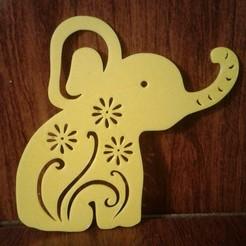 Impresiones 3D ELEPHANT Baby Shawer decoration, souvenir (Elefante 2D), sergiomdp01