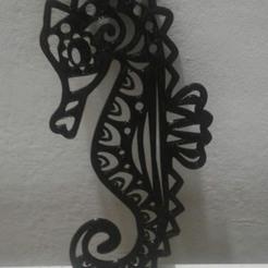 027-01.jpg Download STL file Seahorse 2D • 3D printer object, sergiomdp01