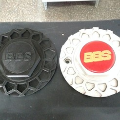Descargar modelos 3D para imprimir Wheel Hub Cover BBS (Centro de rueda), sergiomdp01