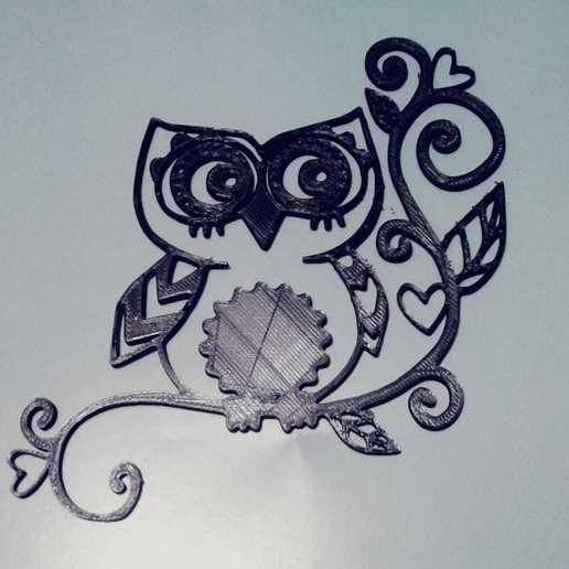 Download 3D printer model OWL (Owls) 2D, sergiomdp01