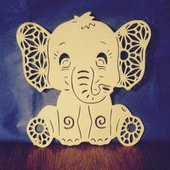 Descargar archivo 3D ELEPHANT 2 Baby Shawer decoration, souvenir (Elefante 2D), sergiomdp01