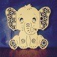 Télécharger fichier imprimante 3D ELEPHANT 2 Baby Shawer décoration, souvenir (Elephant 2D), sergiomdp01