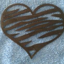 008-01.jpg Download STL file Heart animal print (Corazon) 2D • 3D printing model, sergiomdp01