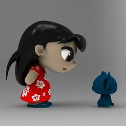 untitled.129.jpg Télécharger fichier STL Modèle d'impression 3D de la collection Princesses Lilo et Stich • Objet pour impression 3D, idrivn30