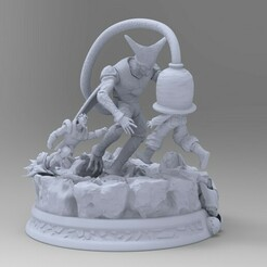 untitled.0.jpg Download STL file Cell vs android 17 and 16 Dragon Ball Z 3D print model • 3D printing object, idrivn30