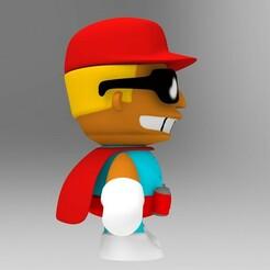 brazo der.13.jpg Télécharger fichier STL Duffman Chibi The Simpsons (Duff Man) • Objet à imprimer en 3D, idrivn30
