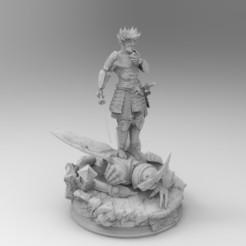 untitled.21.jpg Download STL file Trunks Samurai Dragon Ball • 3D printing design, idrivn30
