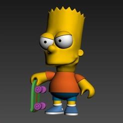 Download STL Bart Simpson Chibi, idrivn30
