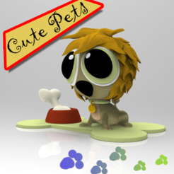Leon (2).png Download STL file Cute Pets Collectibles Lion • 3D printable design, idrivn30