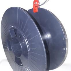 Free 3D print files Filament Attachment on Roller, La3Dfacile
