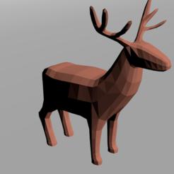 Descargar archivos 3D Ciervo bajo en polietileno, ricky35497