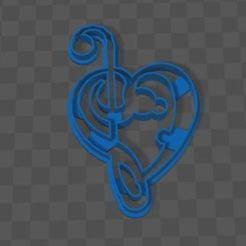 Download STL cookie cutter musical heart, 3dstafe