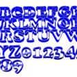 abc copper.png Download free STL file ABC + NUM 3CM Cooper Cookie cutter • Design to 3D print, CutterLabs