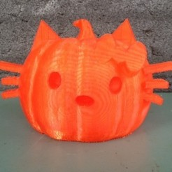 Free 3D printer files Cat Pumpkin, RodrigoPinard