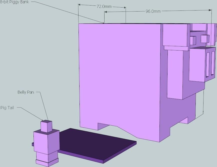 5_display_large_display_large.jpg Download free STL file 8-bit Piggy Bank • 3D printer object, DelhiCucumber