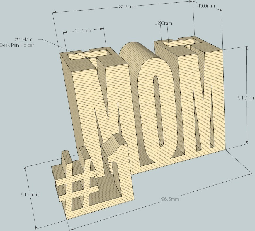 1_display_large_display_large.jpg Télécharger fichier STL gratuit #1 Maman / Maman • Design à imprimer en 3D, DelhiCucumber