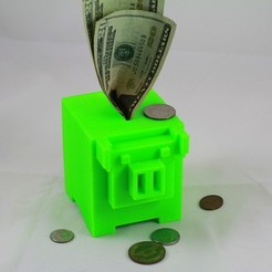 Download free STL file 8-bit Piggy Bank • 3D printer object, DelhiCucumber