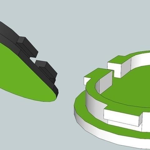 3DView_display_large_display_large.jpg Télécharger fichier STL gratuit Capuchons de poignée de poignée de prise de Ford • Modèle imprimable en 3D, DelhiCucumber