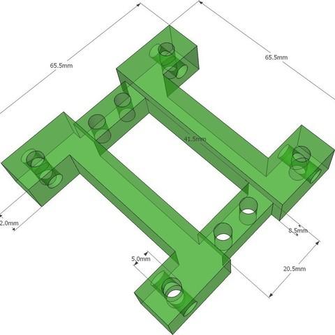 ServoIBrace_display_large_display_large.jpg Download free STL file MegaPed Servo I Brace • 3D printing template, DelhiCucumber
