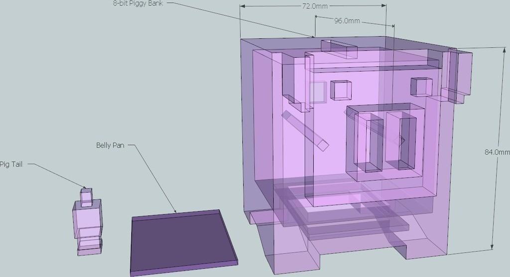 2_display_large_display_large.jpg Download free STL file 8-bit Piggy Bank • 3D printer object, DelhiCucumber