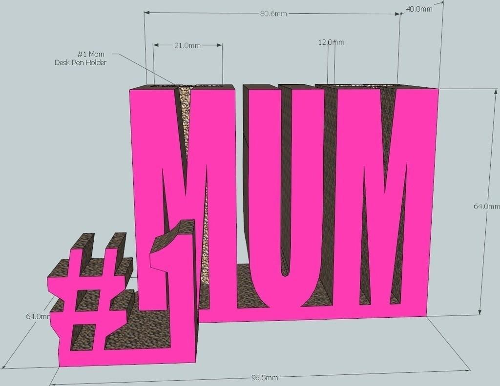Mum_display_large_display_large.jpg Télécharger fichier STL gratuit #1 Maman / Maman • Design à imprimer en 3D, DelhiCucumber