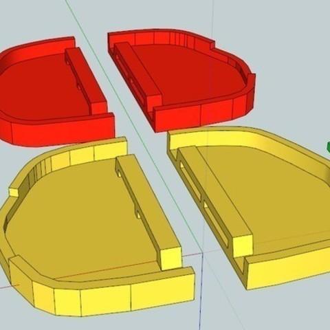 AllPartsReady4Print_display_large_display_large.jpg Télécharger fichier STL gratuit Capuchons de phares VW Passat HID • Objet imprimable en 3D, DelhiCucumber