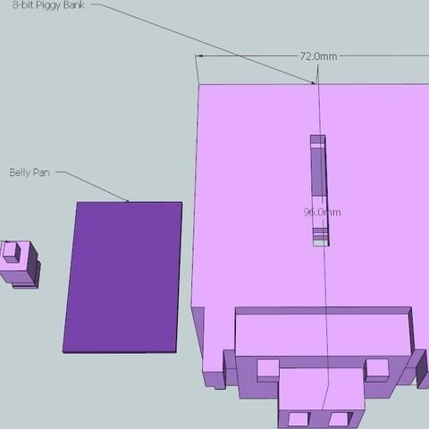 3_display_large_display_large.jpg Download free STL file 8-bit Piggy Bank • 3D printer object, DelhiCucumber