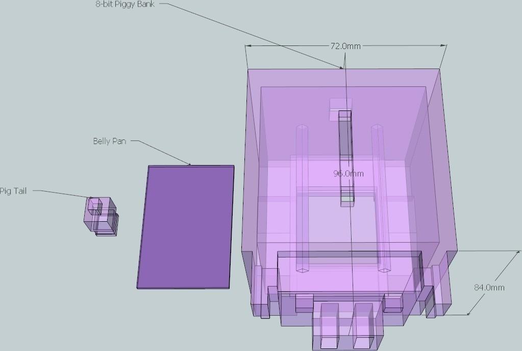 4_display_large_display_large.jpg Download free STL file 8-bit Piggy Bank • 3D printer object, DelhiCucumber