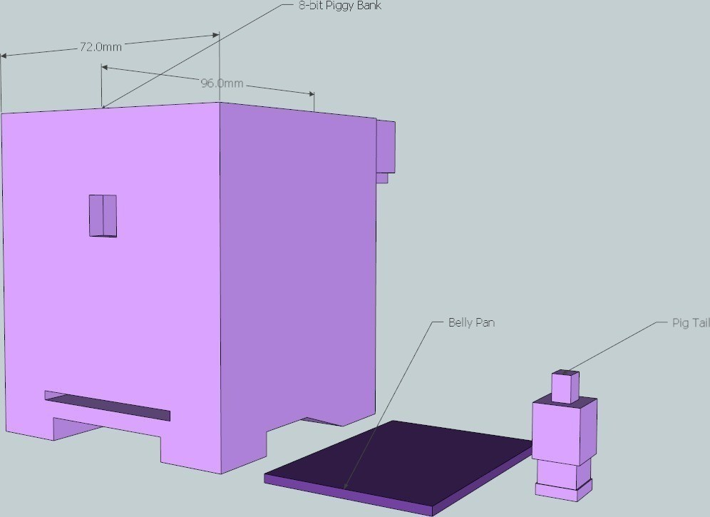 7_display_large_display_large.jpg Download free STL file 8-bit Piggy Bank • 3D printer object, DelhiCucumber