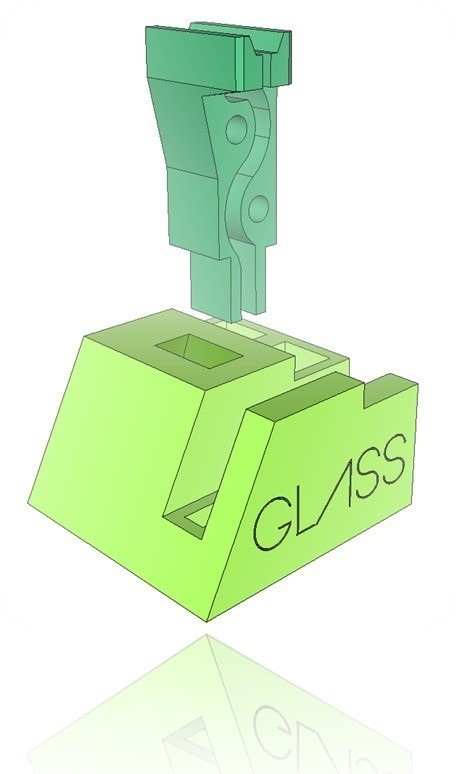 GB2_display_large.jpg Download free STL file Google Glass Base • Template to 3D print, DelhiCucumber