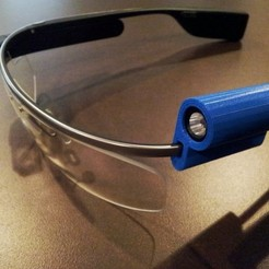 Télécharger plan imprimante 3D gatuit G-Torch (Google Glass Torch), DelhiCucumber