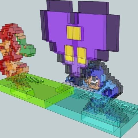 4_display_large_display_large.jpg Télécharger fichier STL gratuit Amoureux 8 bits • Modèle pour impression 3D, DelhiCucumber