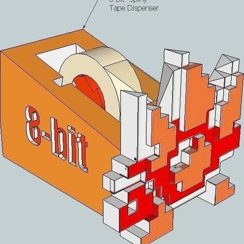 4_display_large_display_large.jpg Download free STL file Spiny 8-bit Tape Koopa • 3D printing design, DelhiCucumber