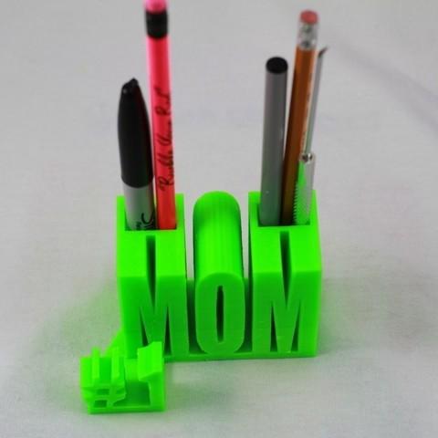 Download free STL #1 Mom / Mum, DelhiCucumber