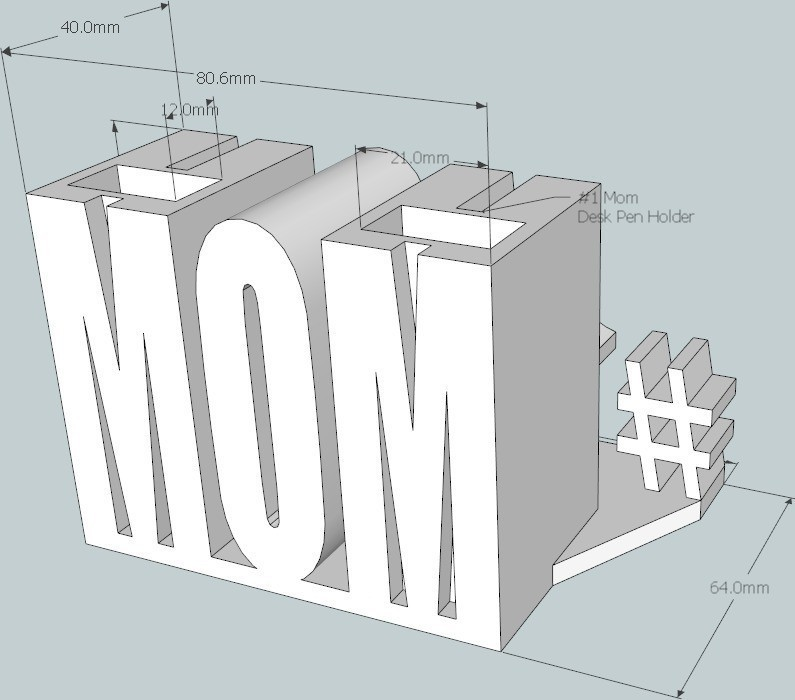 4_display_large_display_large.jpg Télécharger fichier STL gratuit #1 Maman / Maman • Design à imprimer en 3D, DelhiCucumber