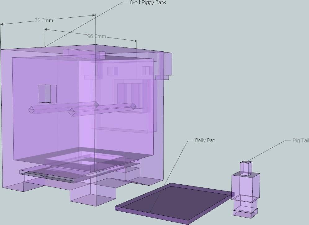 8_display_large_display_large.jpg Download free STL file 8-bit Piggy Bank • 3D printer object, DelhiCucumber