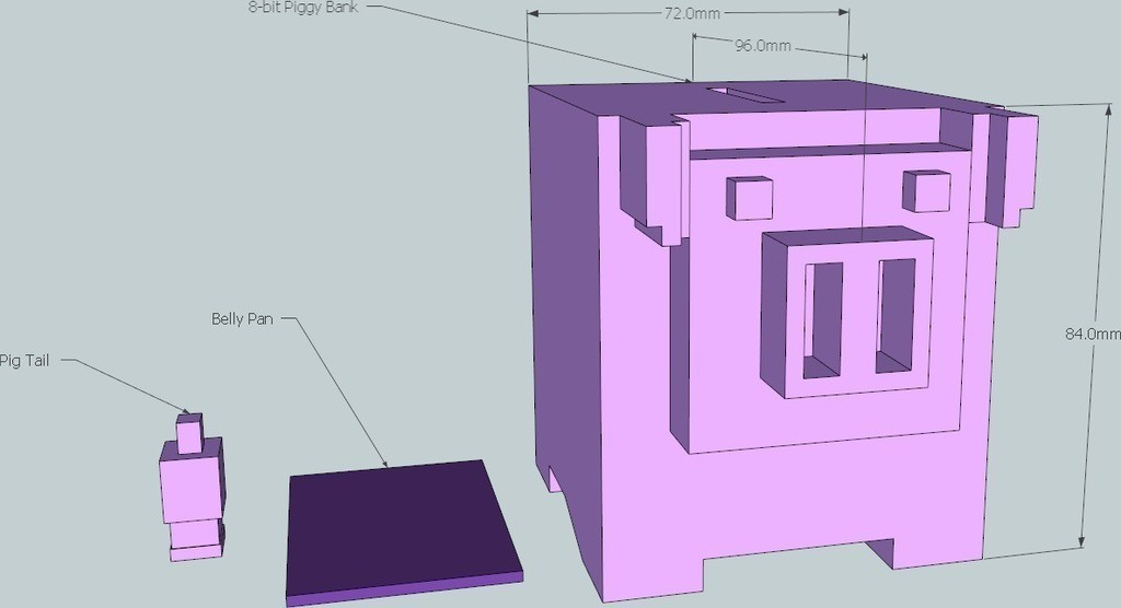 1_display_large_display_large.jpg Download free STL file 8-bit Piggy Bank • 3D printer object, DelhiCucumber