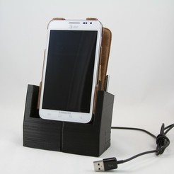 Free 3D printer model Galaxy Note Case-able Dock, DelhiCucumber