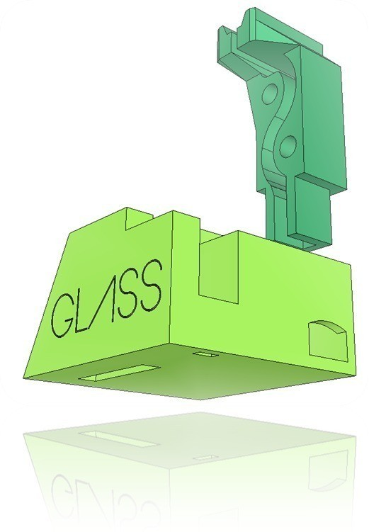 GB3_display_large.jpg Download free STL file Google Glass Base • Template to 3D print, DelhiCucumber