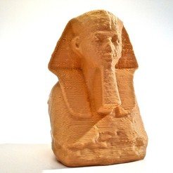 Free 3D printer files Head and Shoulders of a Sphinx of Hatshepsut, enzordplst