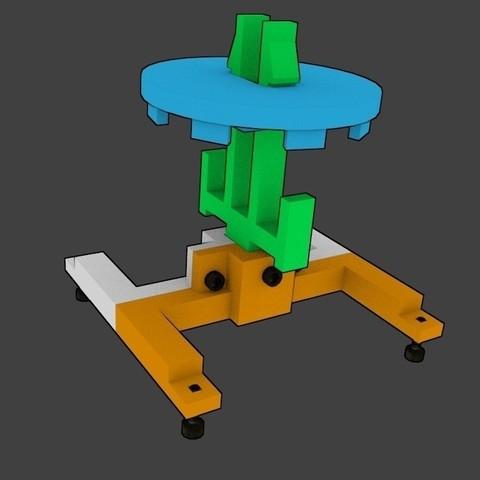 Descargar modelo 3D gratis Adaptador de bobina de plástico de 1 kg para el husillo de filamento MK1 Box, enzordplst