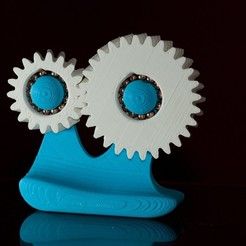 Free 3D printer designs Crazy Gear Face, enzordplst