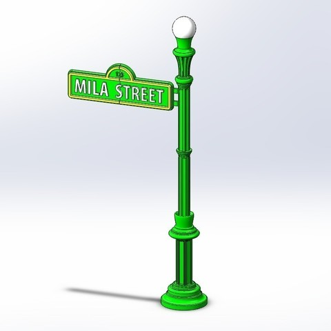 Download free 3D printing models Sesame Street Sign, enzordplst