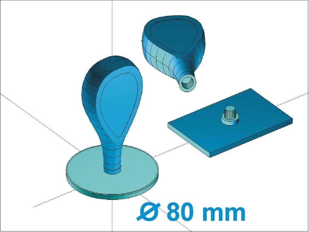 d807a_display_large_display_large.jpg Télécharger fichier STL gratuit poignée en polymère / poignée enfichable • Modèle imprimable en 3D, Kaipa