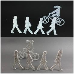 Free 3d printer designs Abbey Road Beatles and cyclist, Kaipa