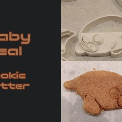 Baby_Seal_Cookiecutter_Thingiverse.jpg Download free STL file Baby Seal Cookie Cutter • 3D print model, crashdebug
