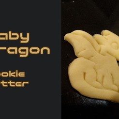 Télécharger fichier impression 3D gratuit Bébé Dragon Cookie Cutter Bébé Dragon, crashdebug