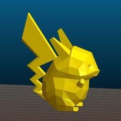 Descargar archivos 3D gratis Pikachu Pokemon (bajo en grasa polimérica ver.), crashdebug